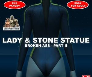 Lady & Stone Statue: Broken..