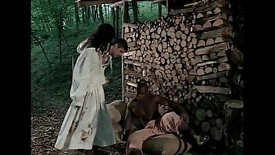 Girl black vintage nude slave
