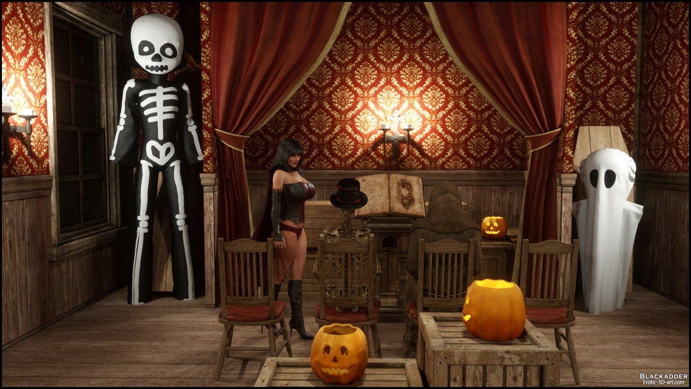 blackadder halloween 3d sex at xxx porn comix com
