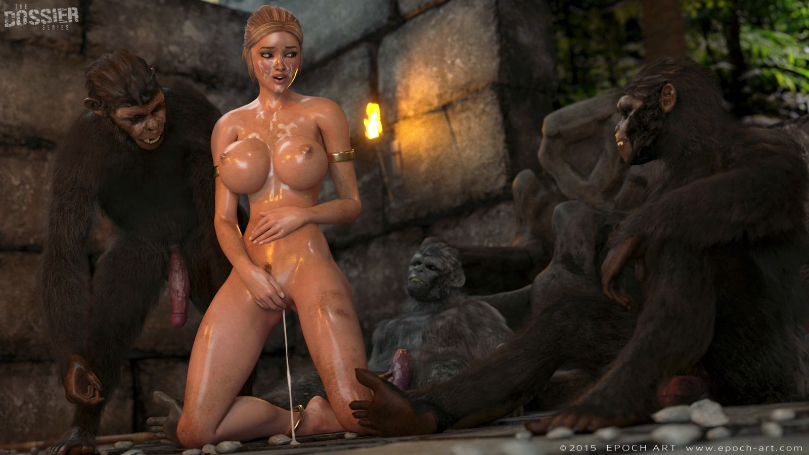 3d animated monster gangbang double feature - 2 5